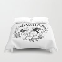 vikings Duvet Covers featuring Vikings by Christiano Mere