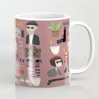 leon Mugs featuring Leon  by Max the Kid