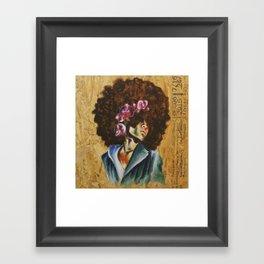 Her Lily- Purple Framed Art Print