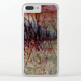 The Persistence of Desert Grass Clear iPhone Case
