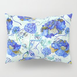Bold, Patterned Flowers Pillow Sham