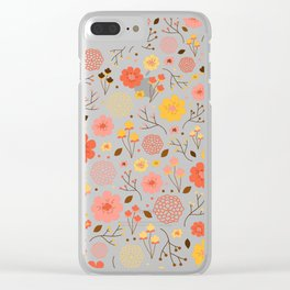 Spring Floral Clear iPhone Case