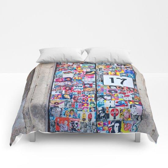 The Secret behind the Door Number 17 of Catania - Sicily Comforters