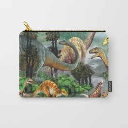 Jurassic dinosaurs drink in the river Carry-All Pouch