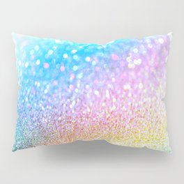 rainbow glitter Pillow Sham