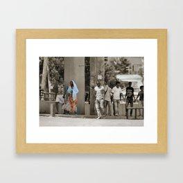 Colour in the city Framed Art Print