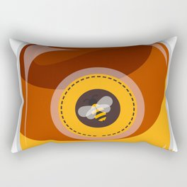 Cartoon Cute Bee Rectangular Pillow