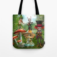 concert Tote Bags featuring Night Concert by Simone Gatterwe