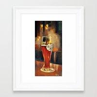 beer Framed Art Prints featuring Beer by Burnt in Sienna