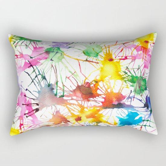 Watercolor Splashes Rectangular Pillow