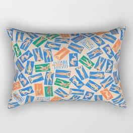 DUDE BEACH, by Frank-Joseph Rectangular Pillow