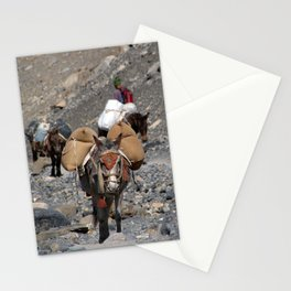 Mules Climbing Thorung La Stationery Cards