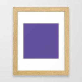 Ultraviolet Purple Pantone Color of The Year 2018 Framed Art Print