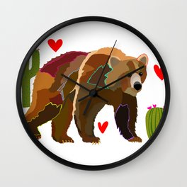 Brown Bear Wall Clock