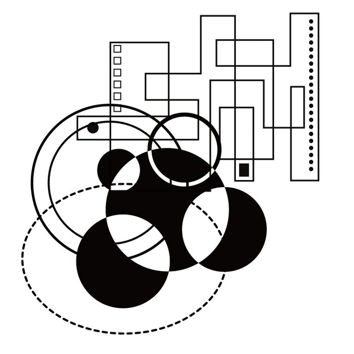 Atomic Floorplan Geometric Abstract Black White Comforters