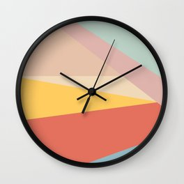 Retro Abstract Geometric Wall Clock