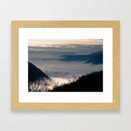 Fog Over the Hudson River Framed Art Print