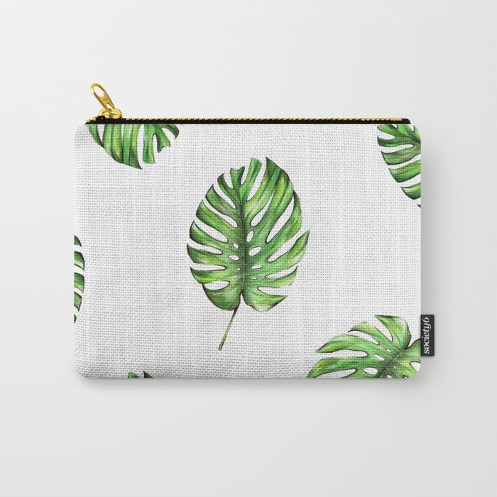 Monstera green leaves Carry-All Pouch