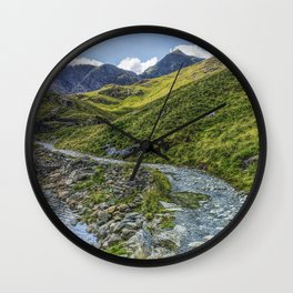 Path To Snowdon Wall Clock