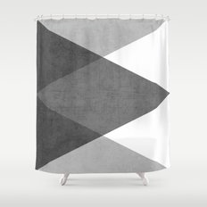 black and white triangles Shower Curtain