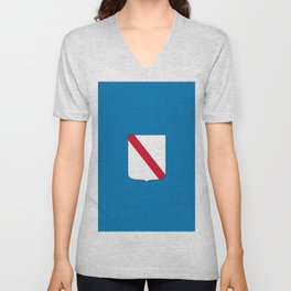 flag of campania Unisex V-Neck