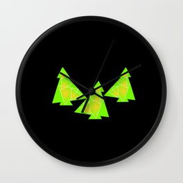 Three little trees Wall Clock