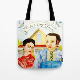 Frida Kahlo and Diego Rivera Tote Bag