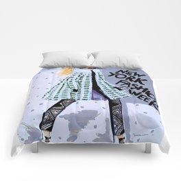 NEW YORK FAHION WEEK ILLUSTRATION BY JAMES THOMAS RYAN Comforters