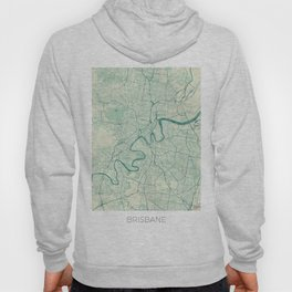 Brisbane Map Blue Vintage Hoody