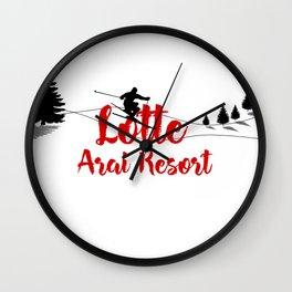 Ski at Lotte Arai Resort Wall Clock