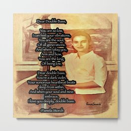 Pamela Storch On Double Bass Poem Metal Print