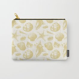 Seashells Pattern 6 - Gold Carry-All Pouch