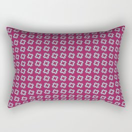 CHICLET bright wine red with small white repeating pattern Rectangular Pillow