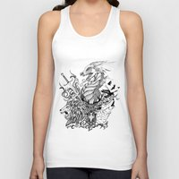 thrones Tank Tops featuring Game of Thrones by Ink Tales