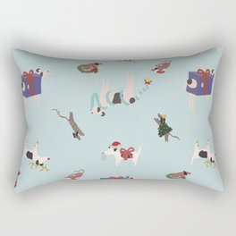 Christmas Dogs Rectangular Pillow