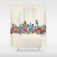south africa Shower Curtains featuring Port Elizabeth south africa by bri.buckley