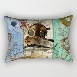 Nautical Steampunk Rectangular Pillow