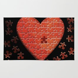 Puzzle Heart Rug