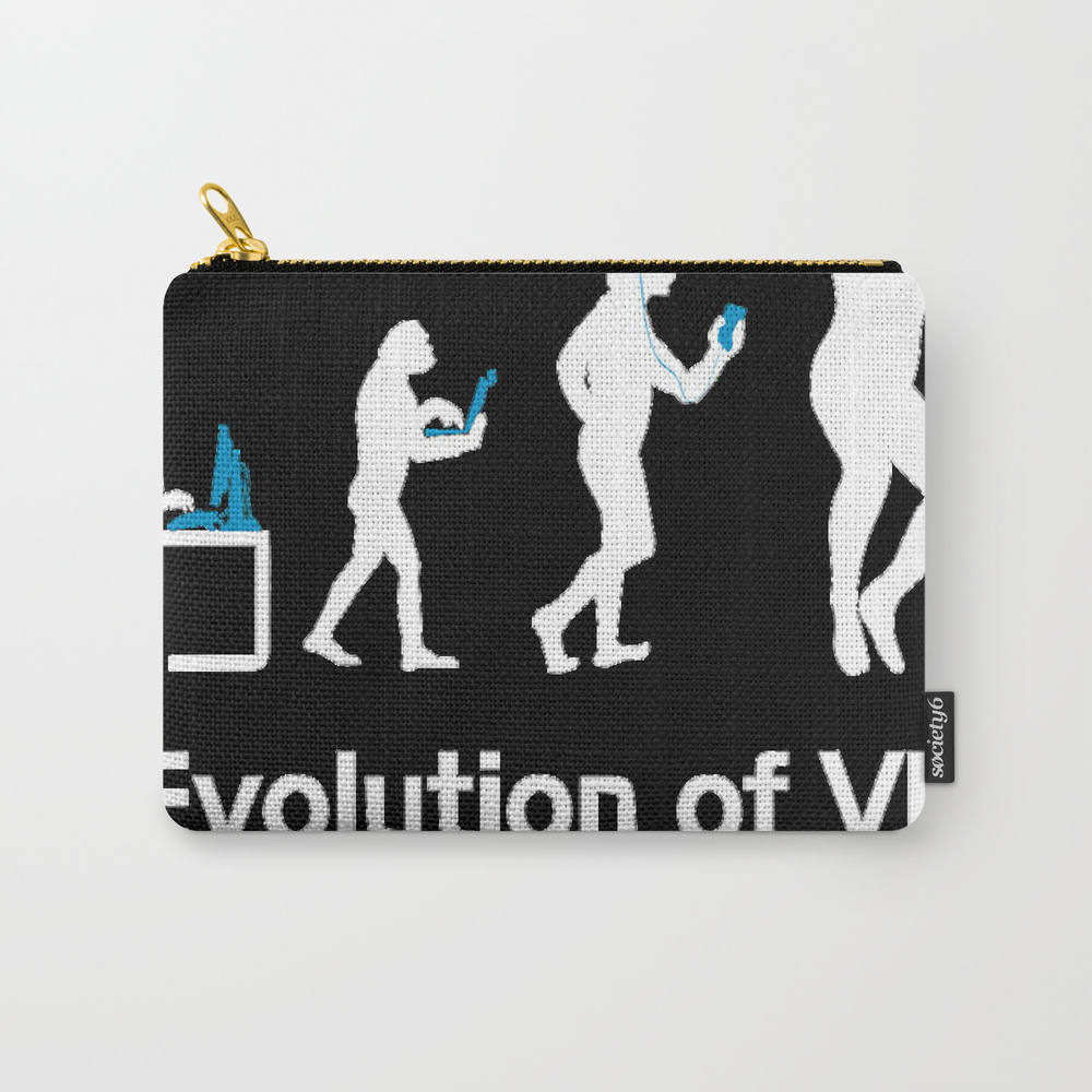 Evolution Of Man Virtual Reality Vr Funny Gaming T… Carry-all Pouch by Phamquynhanh77432 CAP9201022
