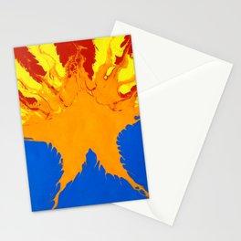 Arizona Flag (Poured Acrylic Style) Stationery Cards