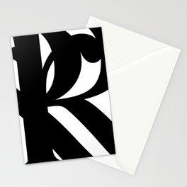 Hidden Letters. Baskerville R Stationery Cards