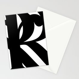 Hidden Letters. Baskerville R Stationery Cards