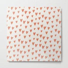 Hearts Hearts Hearts Metal Print