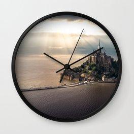 Mont Saint Michel island, Southern France Wall Clock