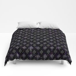 Endless Knot pattern - Silver and Amethyst Comforters