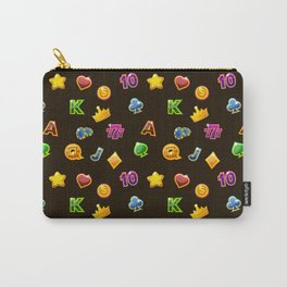 Casino Pattern | Gambling Luck Money Poker Cards Carry-All Pouch