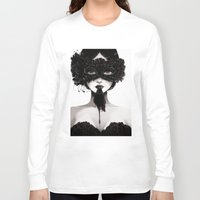 la Long Sleeve T-shirts featuring La veuve affamee by Ludovic Jacqz
