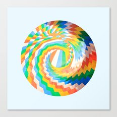 Swirl of colour Canvas Print