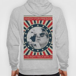 Cigar Smoker Cigar Lover Vote JFK Gifts Black And White Photo Hoody