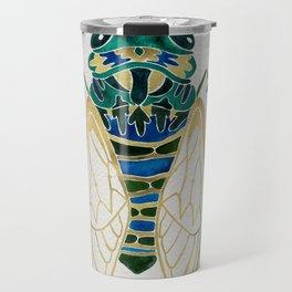 Green & Gold Cicada Travel Mug